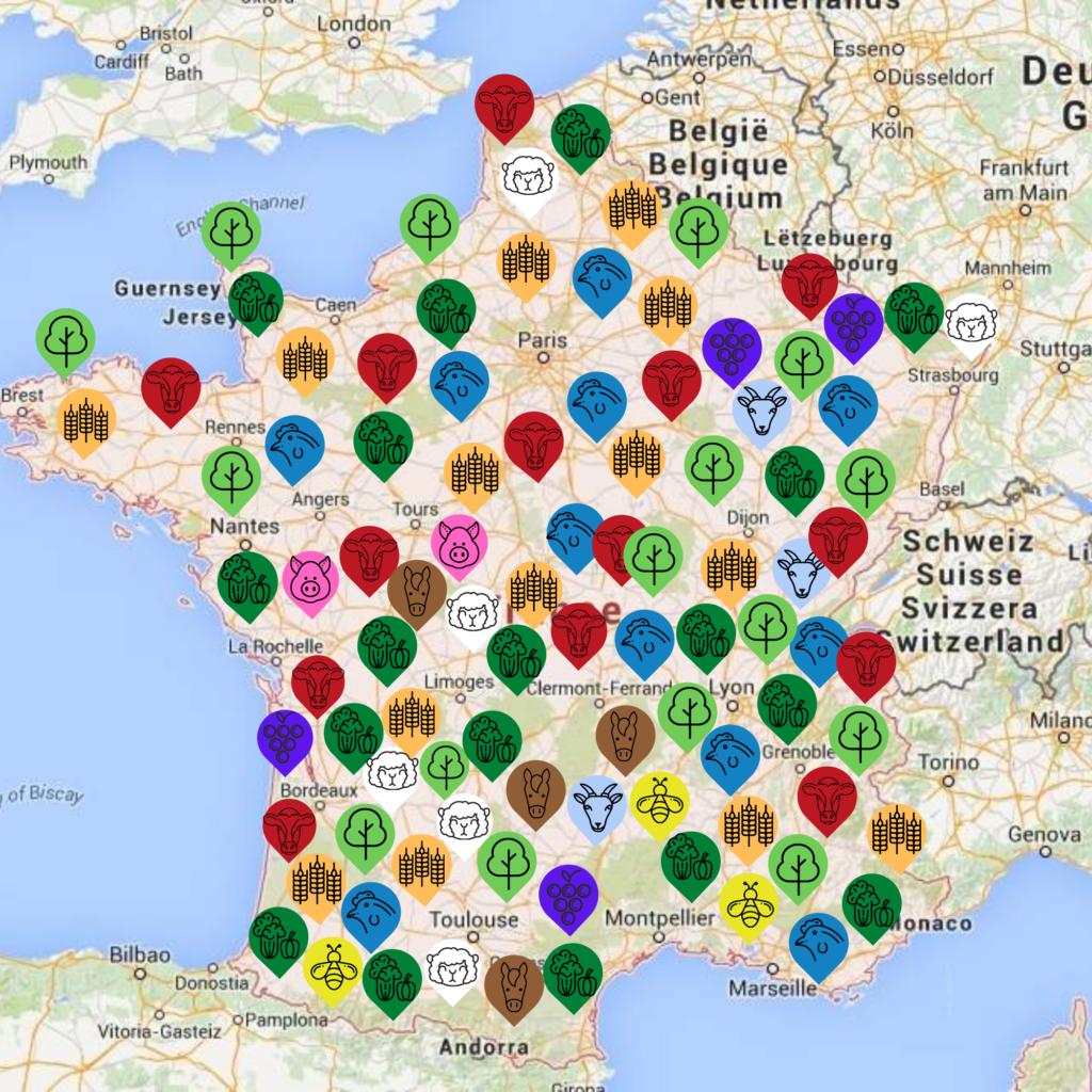 Carte de la route de l'agroforesterie